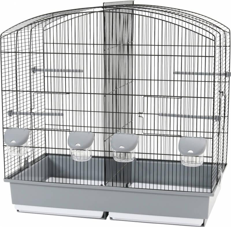 cage d 39 levage family 6 noire grise cage petits oiseaux. Black Bedroom Furniture Sets. Home Design Ideas