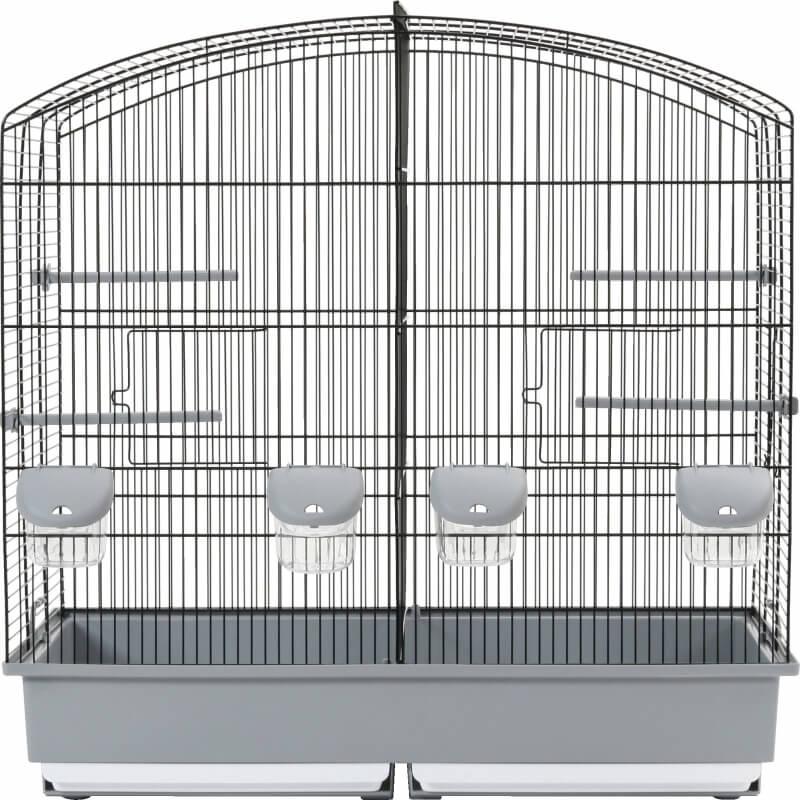 Cage d'élevage Family 6 noire grise
