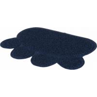 Tapis pour bac à litière de chat - motif pattes - spécial chats sensibles