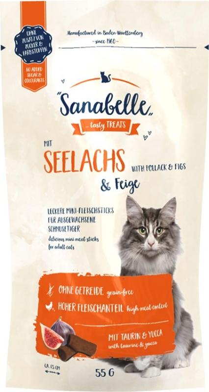 SANABELLE Sanabelle Mini Bâtonnet Colin et Figue pour chat