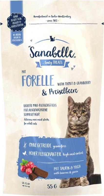Friandises Sans Céréales SANABELLE Truite & Canneberge pour Chat