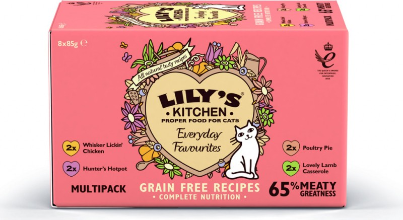 LILY'S KITCHEN Everyday Favourites - Multipack de pâtées pour Chat Adulte - 8x85g