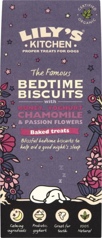 LILY'S KITCHEN Organic Bedtime Biscuits Bio Yaourt & Miel pour Chien