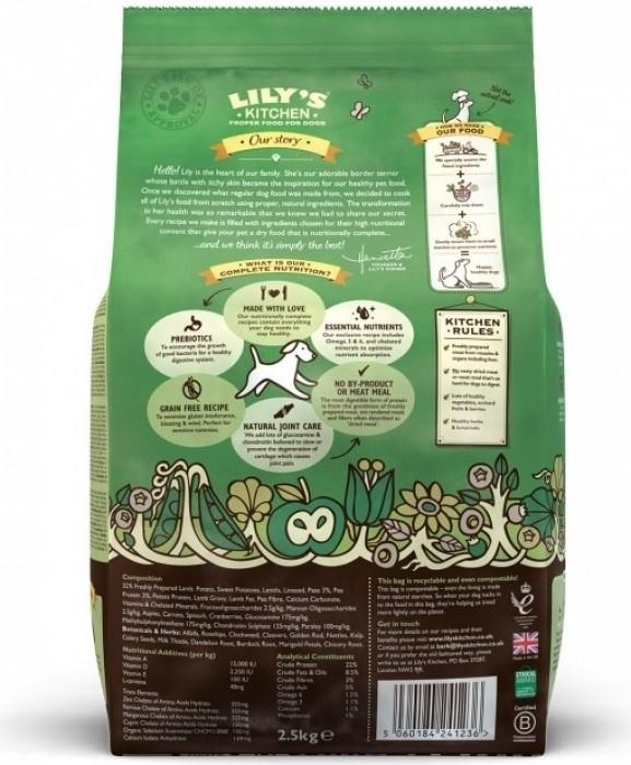 LILY'S KITCHEN Sans Céréales Agneau & Patate Douce pour Chien Adulte