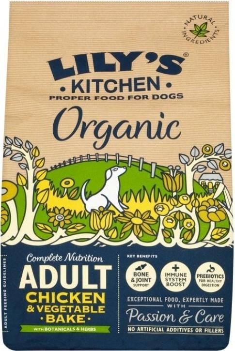 LILY'S KITCHEN Organic Bio au Poulet pour Chien Adulte
