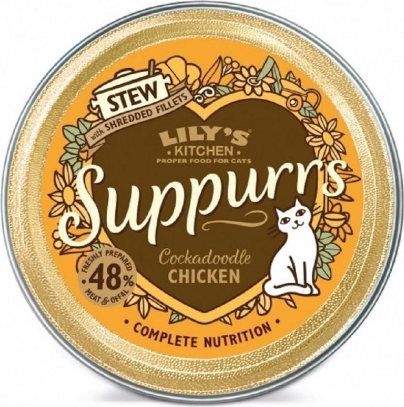 LILY'S KITCHEN Suppurrs Pâtée pour Chat Adulte 85g - 4 saveurs au choix