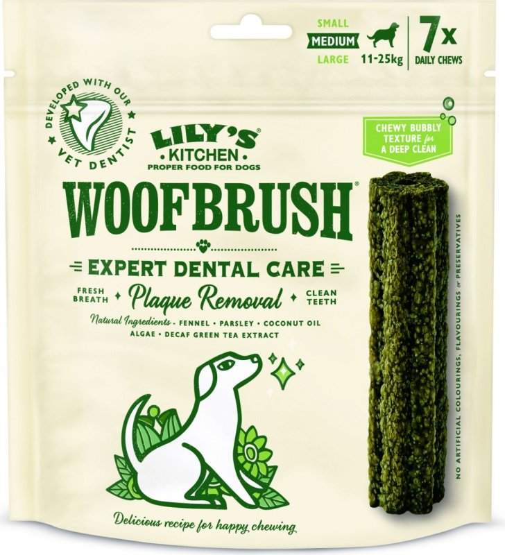 LILY'S KITCHEN Sticks Dentaires Woofbrush Dental Chew pour Chien