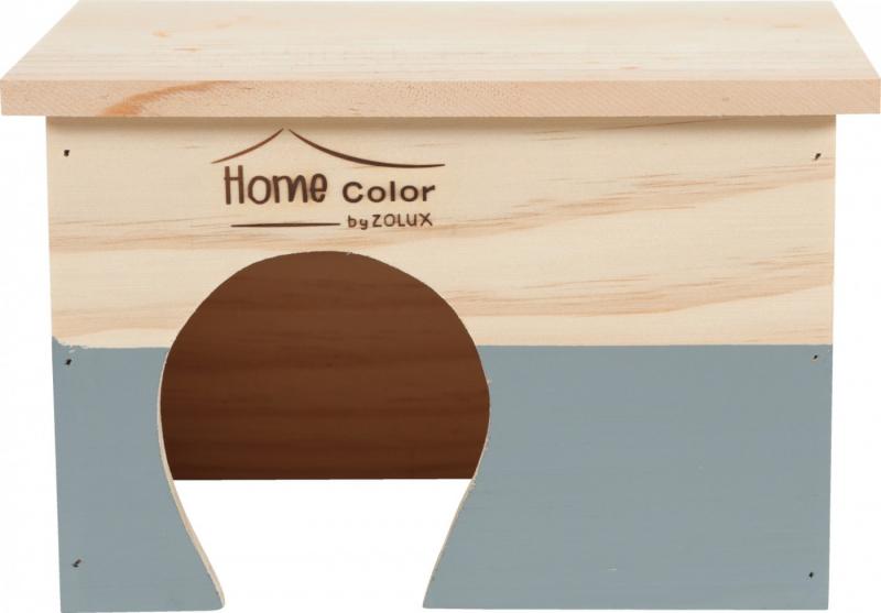Casa rettangolare in legno con tetto piano per roditore - dimensioni multiple