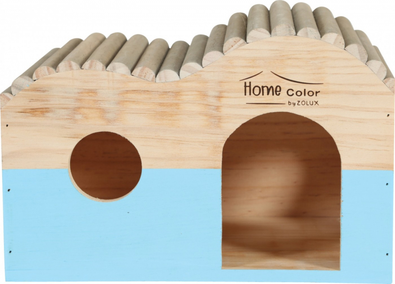 Maison en bois pour rongeur vague rondin - Home color