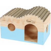 Maison en bois pour rongeur vague rondin - Home color