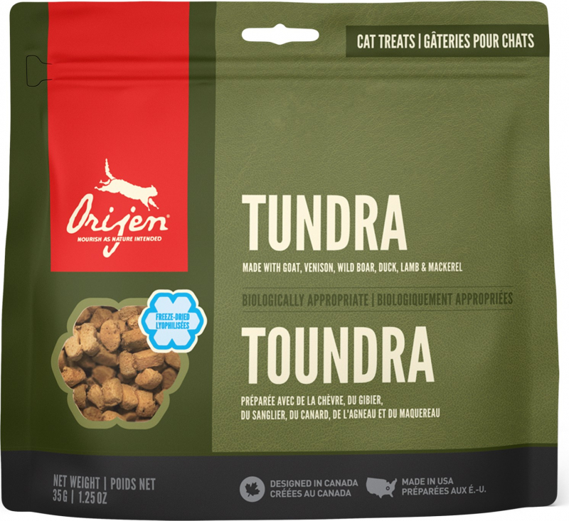ORIJEN TUNDRA Cat Treats - Guloseimas Sem Cereais para gato