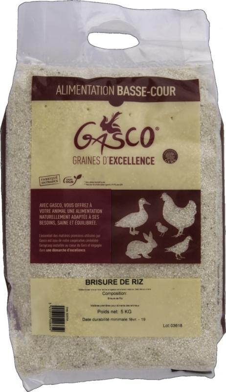 Brisure de riz pour chien - 5 et 20 kg