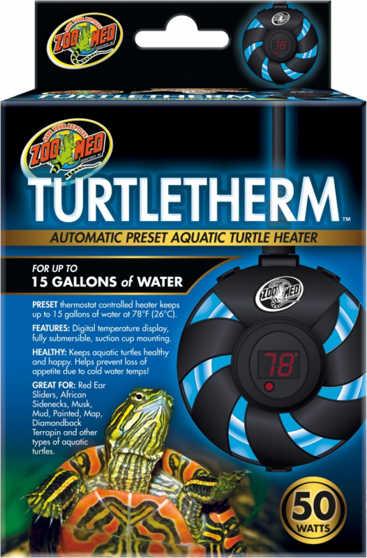 Zoomed Turtle Therm Chauffage à immersion pour tortues aquatique