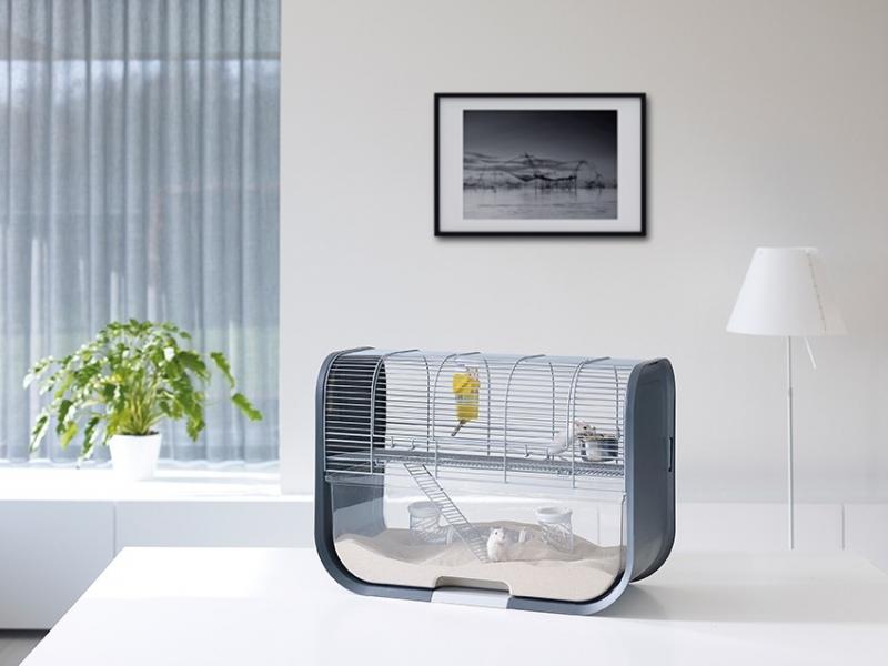 Cage pour gerbilles Lugano design et moderne - 60cm