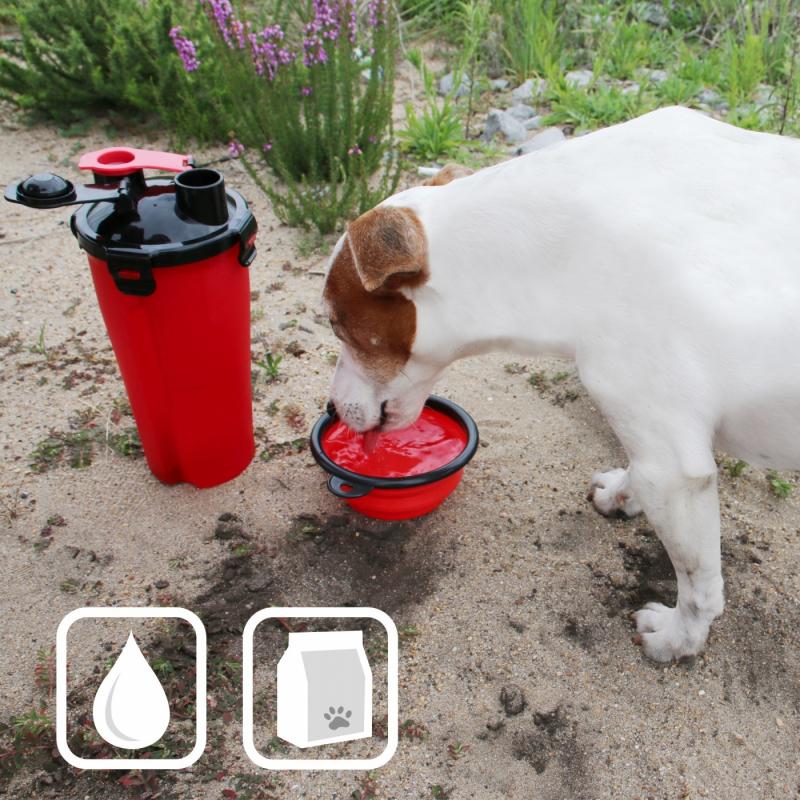 Gourde 2 en 1 pour chien Zolia Sportydog : eau et croquettes