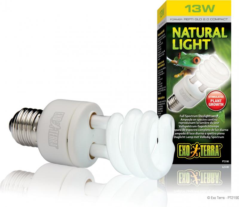 Bombilla fluorescente Repti Glo 2.0 con la luz del día