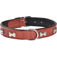 Collier en cuir pour chien Extra Souple BOBBY Rouge