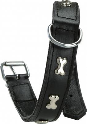 Collier en cuir pour chien Extra Souple BOBBY Noir