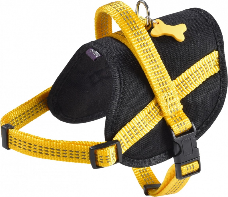 Arnés Easy Safe para perro BOBBY Amarillo - Reflectante