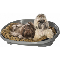Coussin-galette pour chien et corbeille pour chien Merlin BOBBY