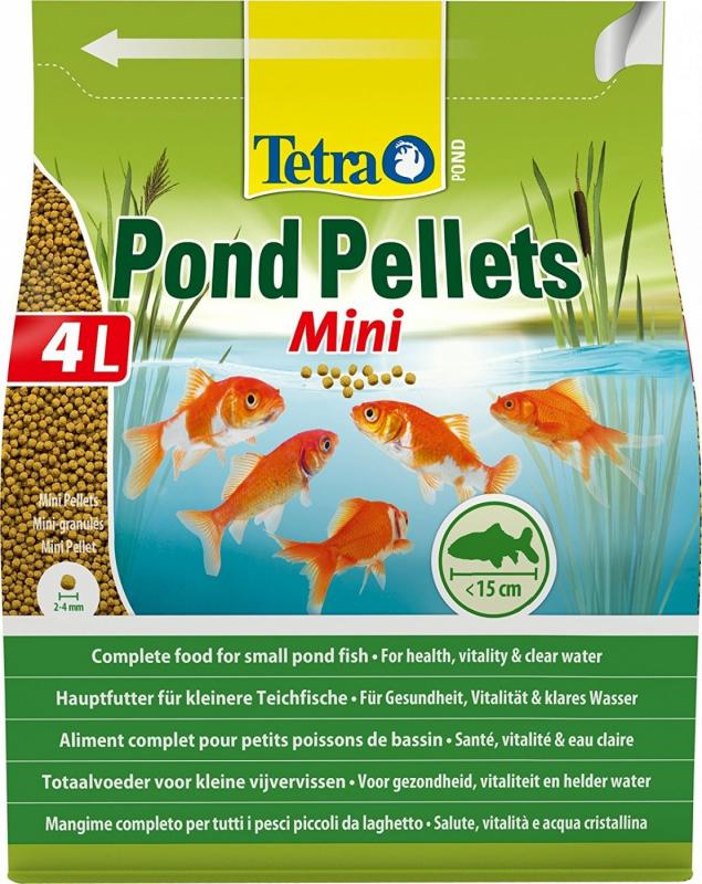 Tetra Pond Pellets Mini Alimento completo para peces pequeños de estanque