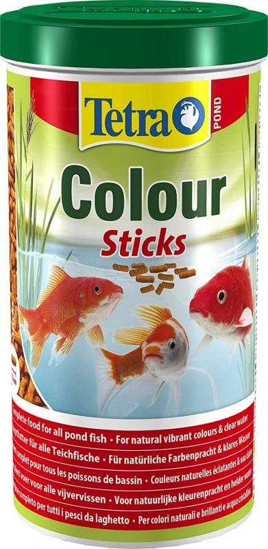 Tetra Pond Colour Sticks Aliment complet pour poissons de bassin aux couleurs éclatantes