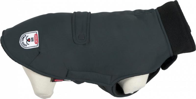 Manteau imperméable doublé pour chien River gris