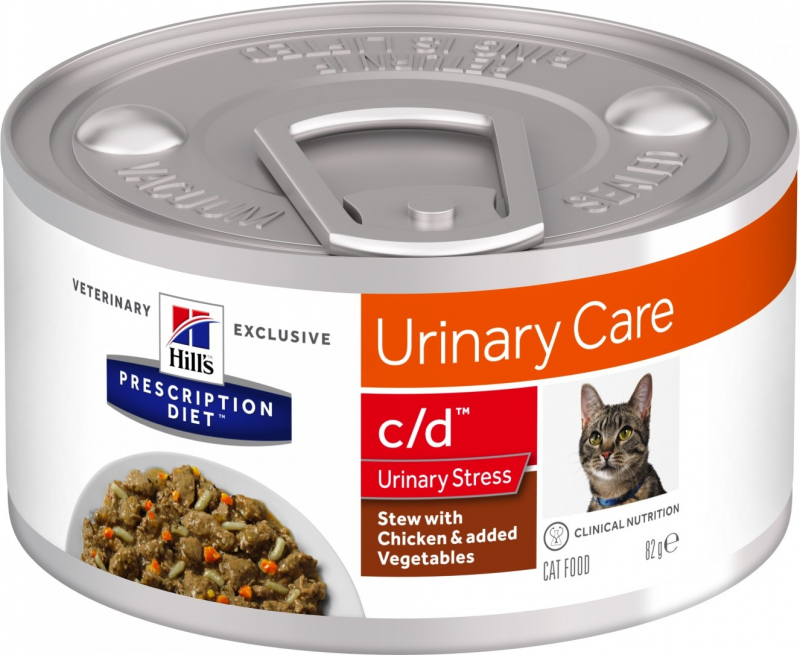 HILL'S Prescription Diet C/D Urinary Stress Mijoté pour Chat