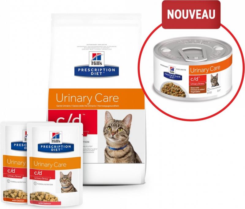 HILL'S Prescription Diet C/D Urinary Stress Mijoté pour Chat