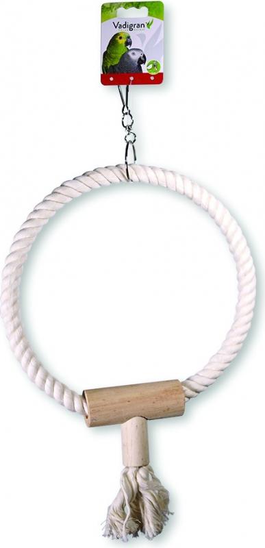 Vadigran, jouets oiseaux cordes et anneaux en coton, diverses variantes pour le plaisir de vos oiseaux
