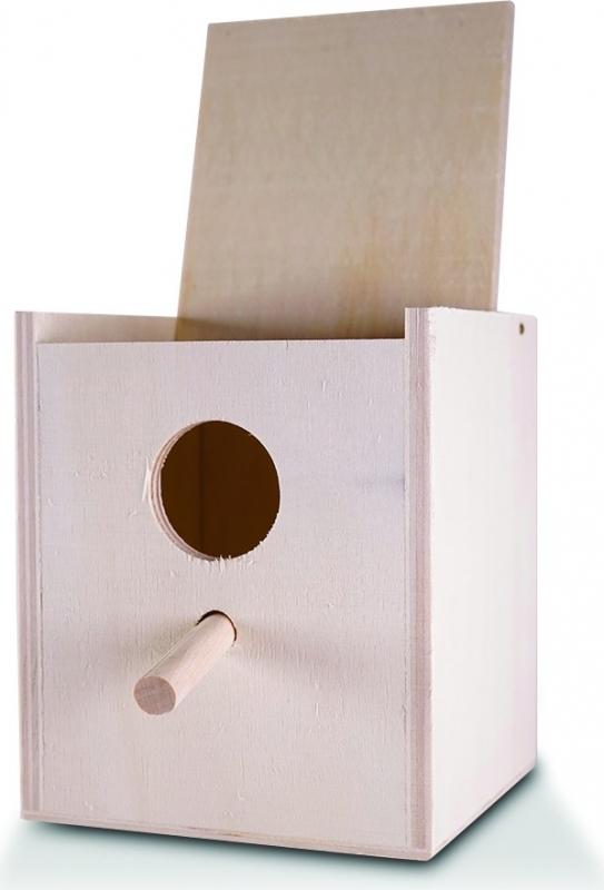 Ninho para pássaros exóticos Vadigran em madeira - disponível em 2 tamanhos