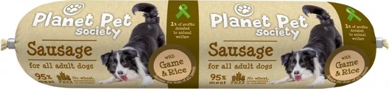 PLANET PET - Pâtée Saucisson de viande Energy au Gibier et au Riz 800gr