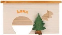 Maison en bois pour rongeur lena S