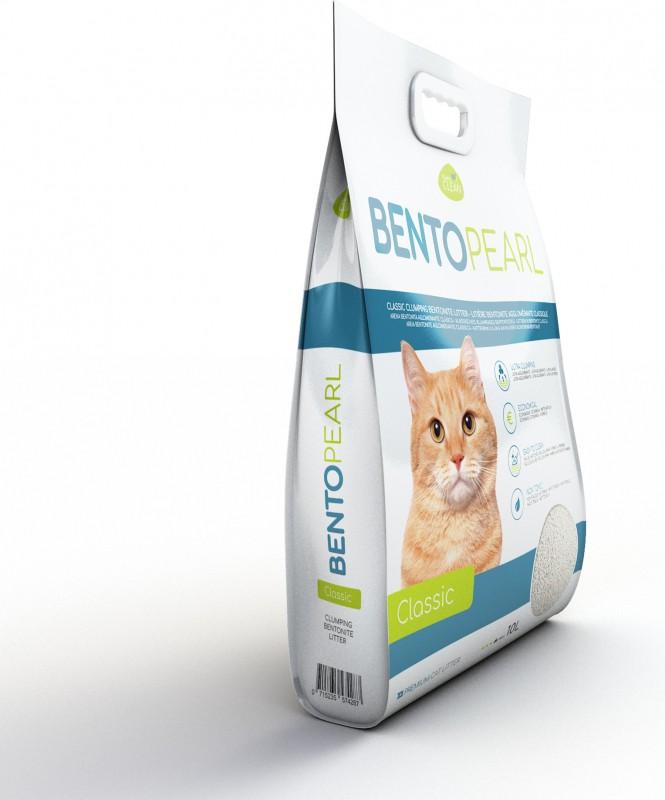 Litière minérale pour chat ultra agglomérante BentoPearl Classic