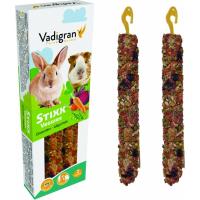 Baguettes à ronger Vadigran StiXX lapins et cochons d'indes aux légumes 115g
