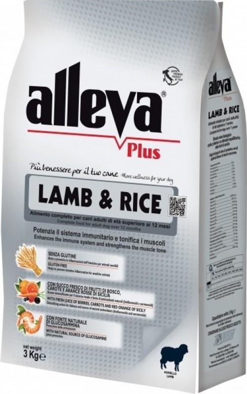 ALLEVA Plus Hypoallergénique Agneau & Riz Sans Gluten pour Chien adulte