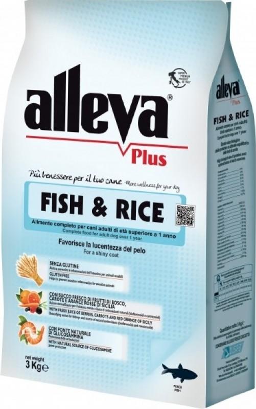 ALLEVA Plus Hypoallergénique Poisson & Riz Sans Gluten pour Chien adulte