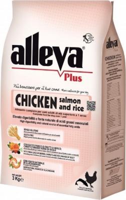 ALLEVA Plus Poulet & Riz Sans Gluten pour Chien adulte