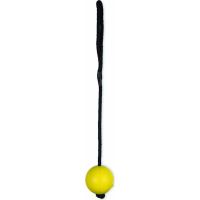 Jouet pour chien Vadigran balle dure avec corde jaune - Différentes tailles