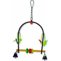 Jouet pour oiseau en plexi Vadigran Swing multicolore 26cm