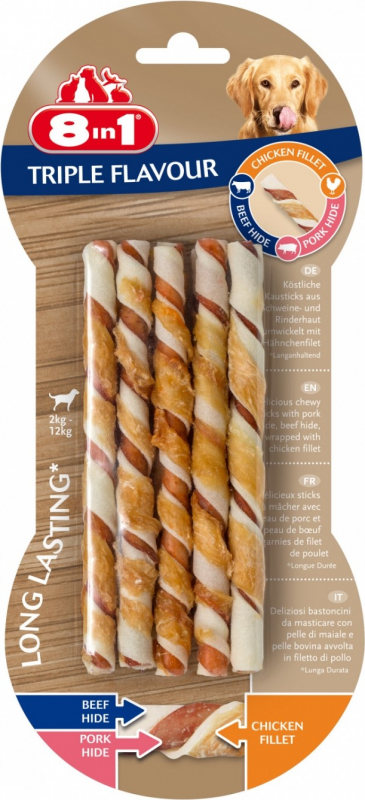 8in1 Stick torsadé triple saveur