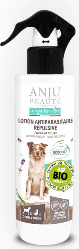 ANJU - Lotion antiparasitaire repulsive BIO pour Chien