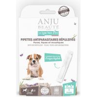 ANJU - Pipettes antiparasitaires répulsives pour Chien et Chiot