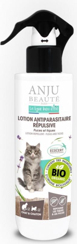 ANJU - Lotion antiparasitaire repulsive BIO pour Chat