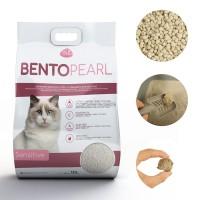 Litière minérale ultra agglomérante pour chat sensible ou chaton Bento Pearl Sensitive