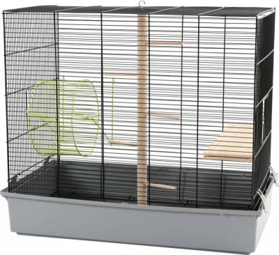 Cage écureuil noire grise