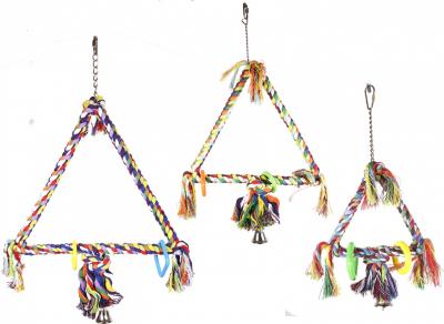 Jouet pour oiseaux Vadigran Triangle coloré - Disponible en 3 tailles