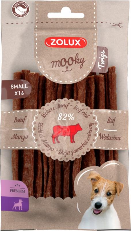 Friandises pour chien Mooky premium bâtonnets au boeuf S x16