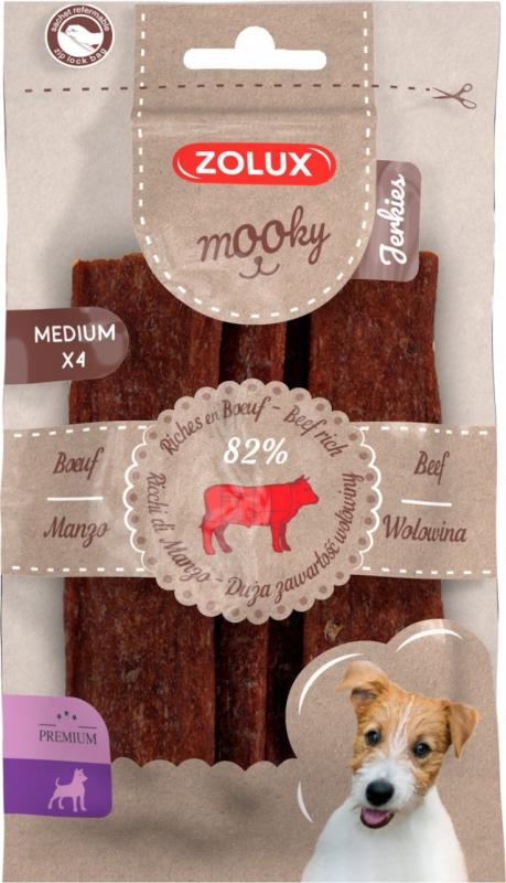Friandises pour chien Mooky premium lamelles au boeuf M x4