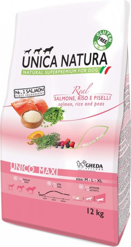 GHEDA Unica Natura Maxi au Saumon pour Chien de moyenne et grande taille